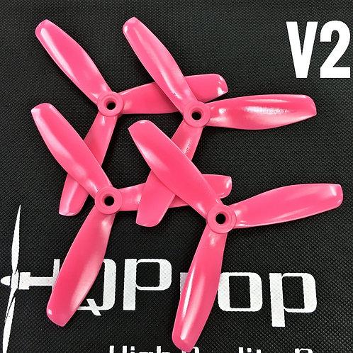 HQProp DPS 5x4.5x3 V2 (Poly Carbonate) PINK TRI 2 Normal / 2 Reverse
