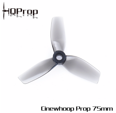 HQProp 75MM for CineWhoop Grey (2CW+2CCW) - Poly Carbonate