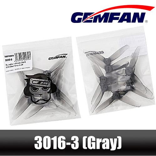Gemfan Hurricane 3016-3 Propeller (1.5mm Shaft - Set of 4) : GRAY