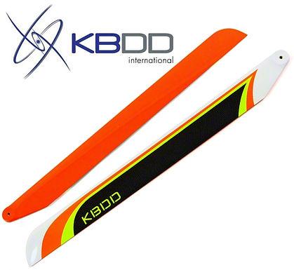 KBDD 690mm Orange Extreme Edition Carbon Fiber Main Rotor Blades