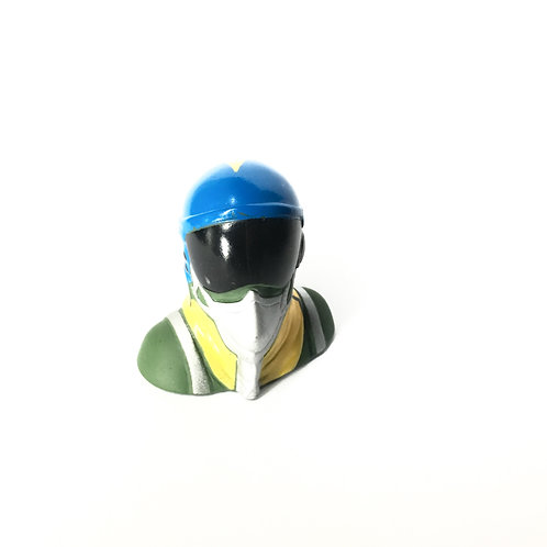1/10 Jet Pilot Figure - Blue Helmet (No Salute)