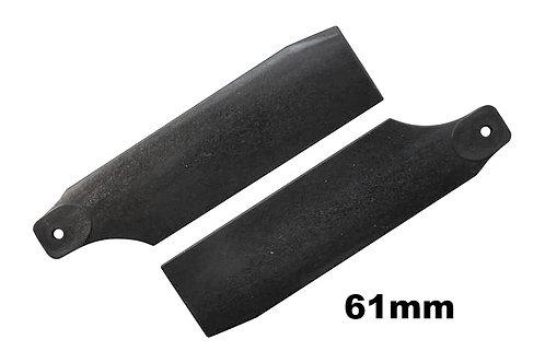 KBDD 61mm Midnight Black Tail Rotor Blades - 450 Size #4020