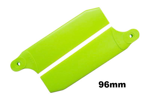 KBDD 96mm Neon Lime Green Extreme Edition Tail Rotor Blades - 600 Size #4070