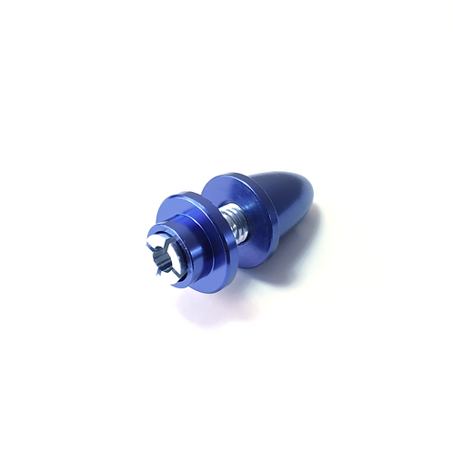 CNC Prop Adaptor (5.0mm Motor Shaft) - Anodized BLUE