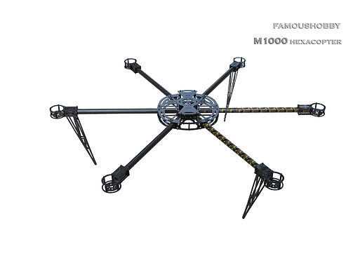Famous Hobby M1000 Hexacopter Frame (Airframe Only - No Electronics)