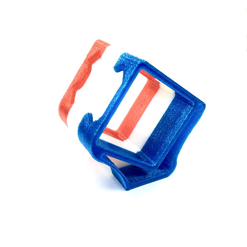 Gopro Session Protection Mount (30Deg) - FLEXI PRINT (RED/WHITE/BLUE)