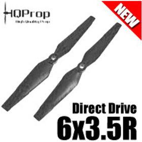 HQProp DD6x3.5R (Black) Reverse