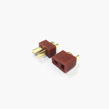 T-Plug Connector Set (Red) - 1 Pair (Male + Female)