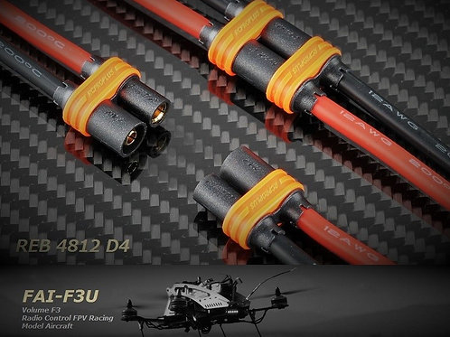 RCPROPLUS SUPRA-X 4mm connector REB4812D4P4H8 (4 pairs)