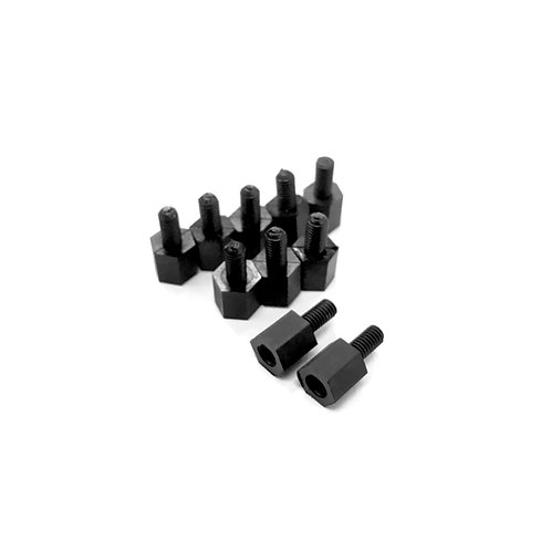 6mm PVC Spacer (Black) (10pcs)