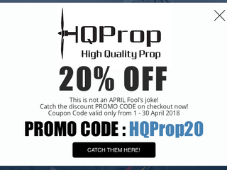 WE LOVE APRIL! 20% Off all HQProps for April only!