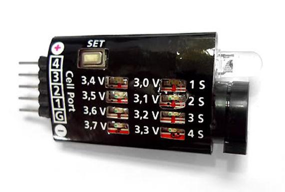BB-4S Lipo Battery Voltage Tester, Low Voltage Buzzer Alarm