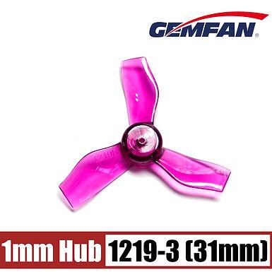 Gemfan 31mm 3-blade Propellers (1.0mm Shaft) (8pcs) - CLEAR PURPLE