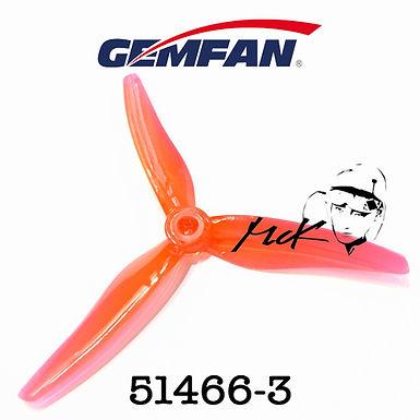 Gemfan Hurricane 51466-3 : CLEAR RED (MCK Edition)