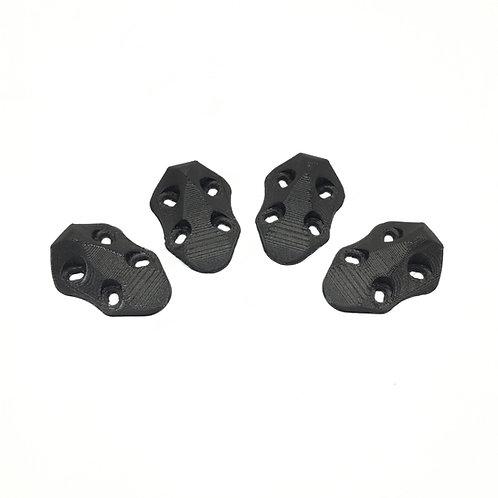 ImpulseRC APEX Arm Skid Set (4pcs) - 3D Printed (BLACK)