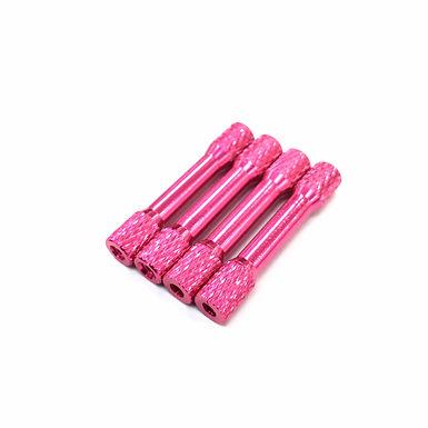 "35mm Aluminum Spacer (Pink) OD6mm / OD5mm ""Diamond"" (4pcs)"