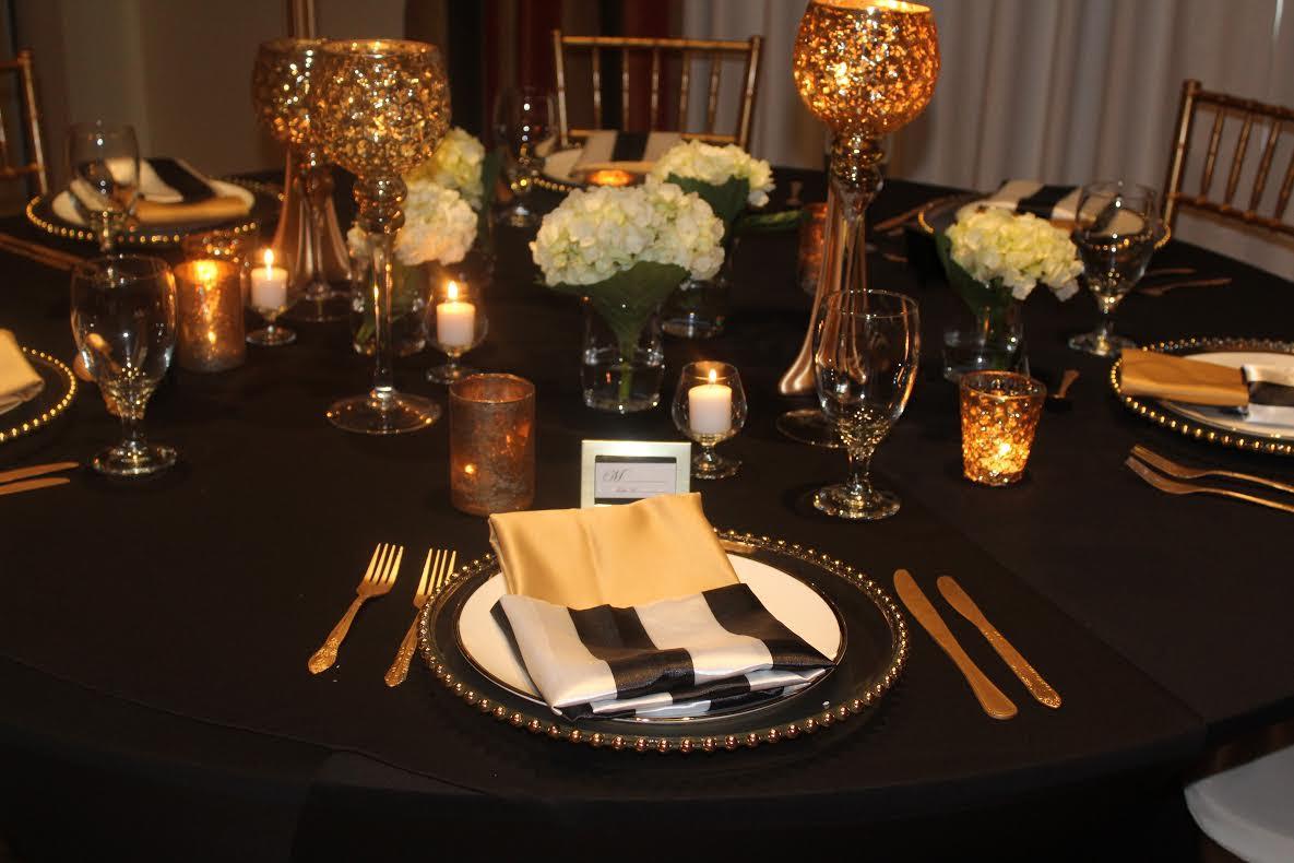 black and gold setup