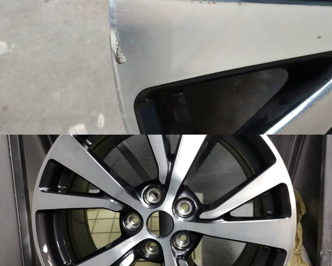Wheel Scratches Before and After