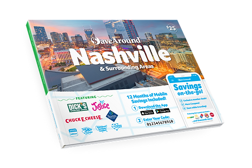 Save Around Coupon Book - Nashville and Surrounding Areas