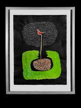 Eulogy of the Nightbird (c. 2011) byVictor Ekpuk