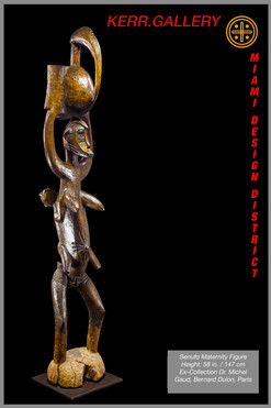 Senufo Mother and Child Figure (K0751)