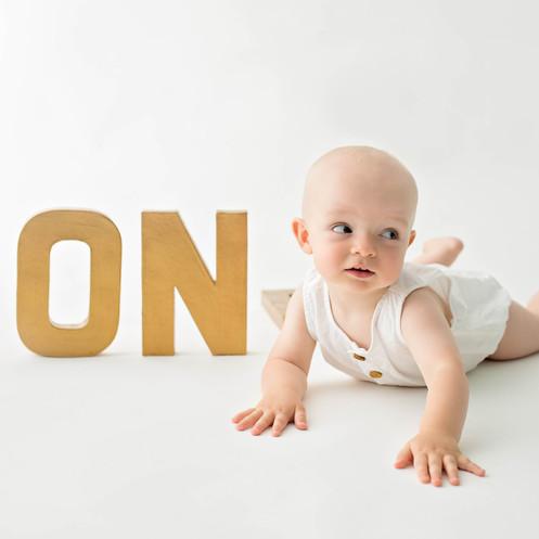 Little boy turning one