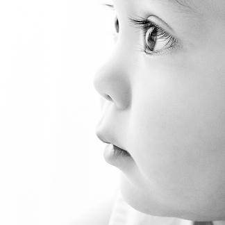 Close up baby eyelashes