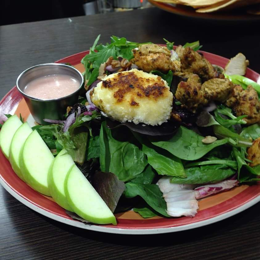 chevre and apple salad