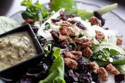 salad-mixed greens, candied pecans, feta