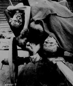 Corpos retirados por alemães