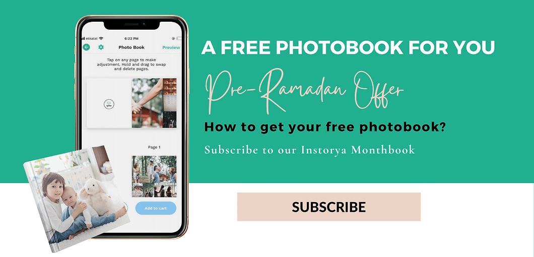Instorya free photo book pre ramadan off