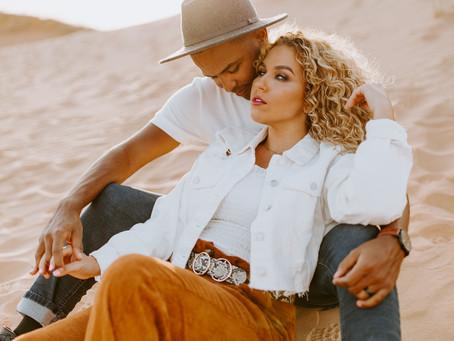 Krissi + Russell | Sahara Desert Engagement