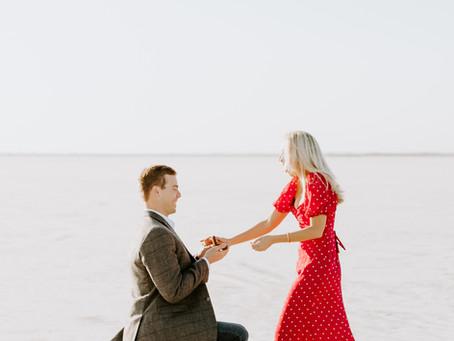 Bridget + Brett   Salt Flat Proposal