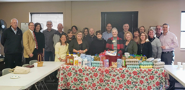 Food donation for Senior Luncheon, December 2019