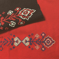 Instagram - 赤い布も、自分で染めました。 #刺繍 #crossstitch #embroidery
