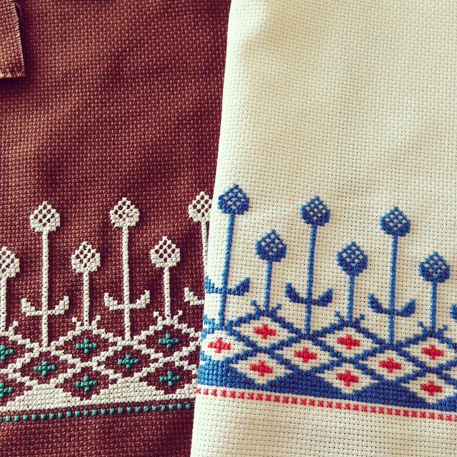 Instagram - Y*RT2定番の柄。 #crossstitch  #embroidery