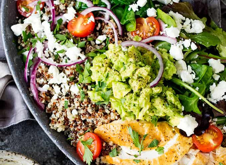 Alkaline Chicken Quinoa Salad Bowl