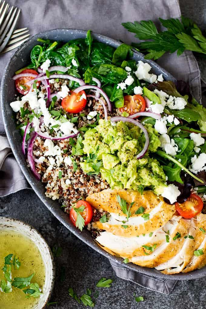 chicken quinoa salad bowl recipe
