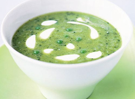 Green Pea Leek & Coconut Soup