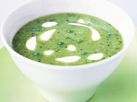 Green Pea Leek & Coconut Soup