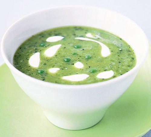 green pea coconut detox soup