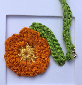 Crochet Flower Necklace Pattern