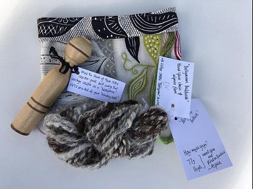 BALLYMENA BALDRICK Hand Spun Skein of Alpaca fibre