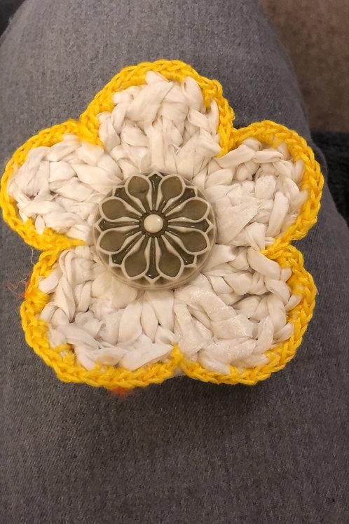 Happy Sunshine Flower SARI SILK BROOCH