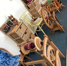 I have three spinning wheels available -