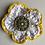 Thumbnail: Happy Sunshine Flower SARI SILK BROOCH
