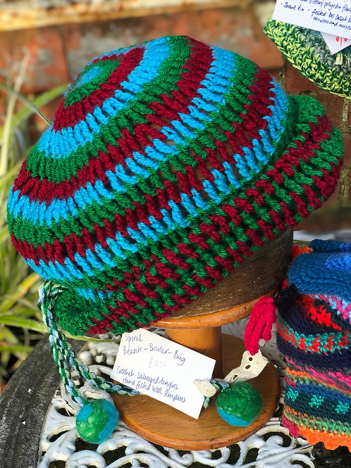 Spiral BEANIE-BOWLER-BAG HAT