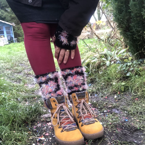Granny Square Ankle Warmers