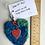 Thumbnail: Polka Dot SARI SILK HEART