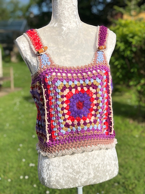 Hip To Be Square Crochet TANK TOP